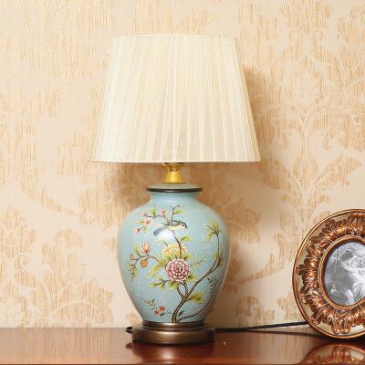 卧室床头柜摆件复古古典欧式陶瓷台灯 卧室床头灯客厅装饰摆设 家居装饰品 限量款 本产品为定制产品,页面品牌等参数均仅供参考,并非实物,默认拍下的为同意页面中描述