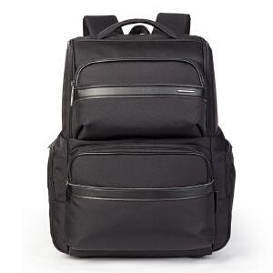 卡拉羊 新款商务双肩包男士5寸电脑包大容量休闲多功能防水背包CS5743