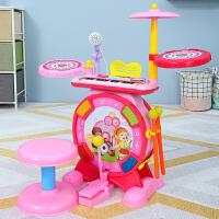 儿童灯光音乐架子鼓玩具1-2-3-6岁宝宝男孩电动爵士鼓乐器