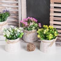 小清新仿真植物盆栽摆件假花盆景家居客厅室内绿植装饰品摆设