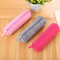 创意文具毛毡笔袋可爱简约学生铅笔收纳包圆筒拉链笔袋可定制批发