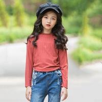 2019 女童打底衫秋冬新款中大童韩版童装毛衣针织衫
