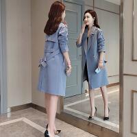 2019春季女装新款风衣中长款韩版修身外套时尚气质流行女士外衣潮