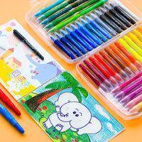 马培德蜡笔油画棒24色36色安全无毒水溶性美术学生儿童幼儿园可水洗不脏手彩色旋转炫彩棒宝宝涂鸦婴儿画画笔