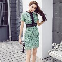 2018新款韩版时尚名媛气质夏季显瘦百搭大气高档 蕾丝连衣裙