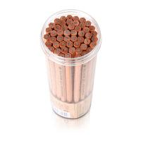 原木写字铅笔50支桶装2h2bhb铅笔考试绘画小学生儿童铅笔
