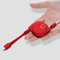 一拖三数据线三合一手机充电线器车载多头功能型通用type-c快充苹果安卓伸缩