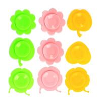 辅食碗 婴儿童餐具吸盘贴 宝宝碗吸盘碗双面垫O 随机形状颜色(两只装)
