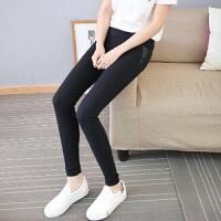 2018新款韩版女装新款拼接小脚裤 修身显瘦打底裤 17XHJ305#