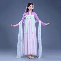 汉服女装齐腰襦裙中国风绣花对襟学生装日常装连衣裙套装