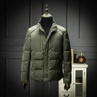 国内单新款冬装立领羽绒服靓仔纯色商务休闲修身羽绒外套剪标尾单