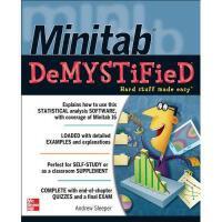 【预订】Minitab Demystified