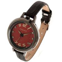 聚利时Julius 韩国时尚个性大表盘时装表 女士手表 皮带石英表正品JA-513