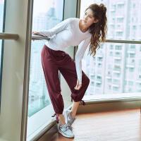 运动裤女秋季新款速干透气宽松跑步长裤健身房瑜伽训练休闲灯笼裤