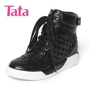 Tata/他她专柜同款小牛皮女休闲靴FG640DD6
