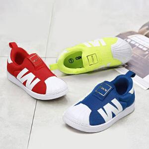 鞋柜shoebox/奥思文春秋帆布鞋男童休闲圆头板鞋运动鞋女童休闲鞋