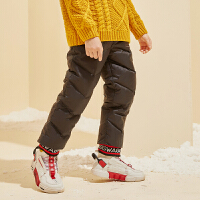 【2件3折:149】巴拉巴拉旗下巴帝巴帝2019年冬男童中大童休闲加厚长裤儿童保暖羽绒裤