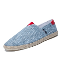 DAZED CONFUSED2017夏季新款懒人帆布鞋男鞋子渔夫男士休闲鞋学生亚麻鞋草编鞋