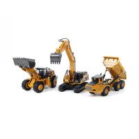 儿童玩具车翻斗车卡车装卸车模型仿真车模合金工程车模挖掘机玩具车汽车模型仿真合金挖土机玩具工程车套装儿童男孩