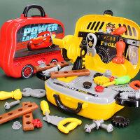 �和�工具箱玩具套�b男孩����仿真�S修拆卸���Q螺�z修理益智女孩