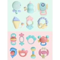 手摇铃男宝宝女孩牙胶摇铃婴儿玩具0-1岁3-6-12个月