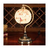 欧式台灯卧室床头柜灯婚庆创意复古台灯惊喜的礼物节日礼品圣诞礼物 按钮开关