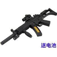 儿童玩具枪带声音乐男孩子3-5-6-7岁宝宝礼物电动声光冲锋抢模型 官方标配