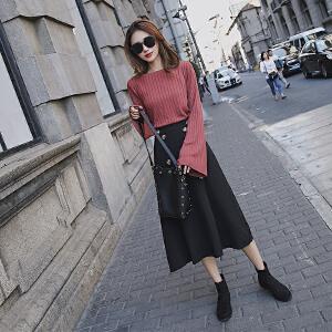 安妮纯春季女套装2020新款春装韩版时尚潮气质时髦洋气女神范两件套裙子