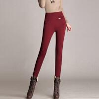 打底裤女士冬季女式加绒加厚紧身弹力显瘦外穿高腰长裤保暖小脚裤时尚