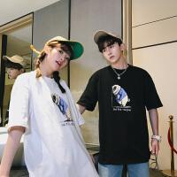 2018潮流情侣装夏装韩版短袖T恤印花宽松显瘦男女学生上衣班服半