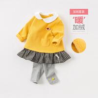 戴维贝拉秋冬新款女童套装 宝宝休闲套装DBZ8067