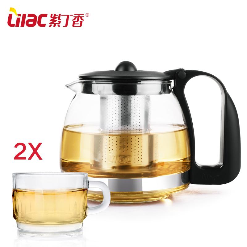 花茶壶家用茶具套装泡茶壶玻璃茶壶不锈钢过滤泡茶器