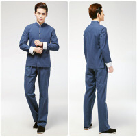 唐装套装 十色可选 中国风盘扣男士长袖唐装 上衣加裤子套装