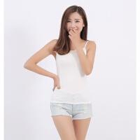 莫代尔黑白色小吊带夏韩版女士背心无袖女装夏季纯色打底衫 均码