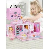 儿童生日礼物3-6岁玩具娃娃屋小别墅公主房子厨房过家家女孩