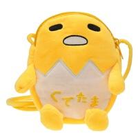 卡通芝麻街公仔史迪奇玩偶学生斜挎包可爱萌少女手机小包毛绒可爱 柠檬黄 懒蛋蛋