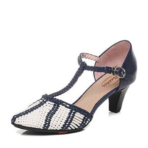 BATA/拔佳春季专柜同款编织女凉鞋AD306AK6