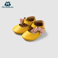 【年终狂欢 3件3折价: 81】迷你巴拉巴拉女婴儿学步鞋宝宝轻薄防滑鞋子2019春季新款甜美童鞋