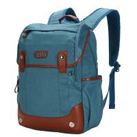 卡拉羊简约多功能休闲大容量男女旅行笔记本电脑背包双肩包CX5785