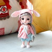 迷你仿真可爱芭比洋娃娃玩具过家家17cm关节可动公主娃娃儿童礼物