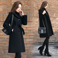 朴衣尚2018毛呢外套冬季新款韩版宽松中长款呢子加棉加厚大衣气质女神款