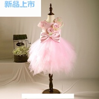 女童公主裙小花童礼服婚纱儿童礼服粉色色连衣裙主持走秀演出服