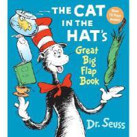 英文原版 The Cat in the Hat\'s Great Big Flap Book 木板书 苏斯博士系列:戴
