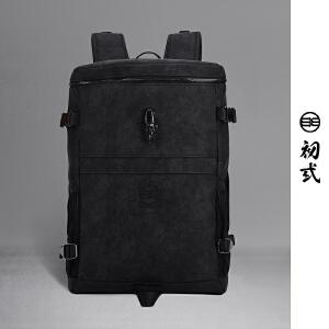 初�q潮牌中国风复古无常鬼神街头男女个性电脑包双肩包41135