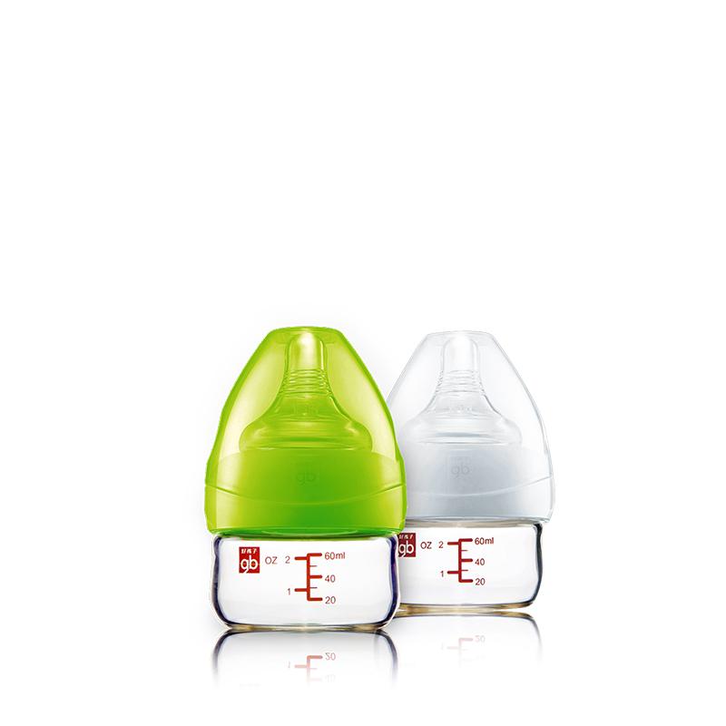 婴儿奶嘴储奶瓶胀气60ml 母乳实感宽口径玻璃奶瓶
