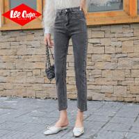Lee Cooper新款韩版显瘦百搭修身九分裤直筒微喇叭牛仔裤