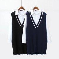 200斤新款加大码胖mm韩版春秋女装宽松显瘦长袖衬衫针织裙两件套