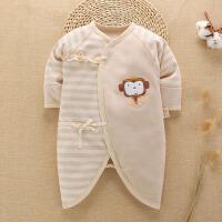 新生儿衣服夏季彩棉宝宝哈衣蝴蝶衣和尚服婴儿连体衣