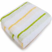三利 纯棉彩色条纹毛巾单条装 32×71cm 柔软吸水洗脸面巾