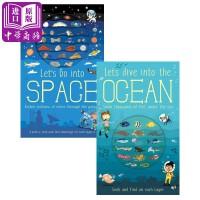 【中商原版】Let's Go系列翻翻书2册 英文原版 太空 海洋 儿童科普绘本